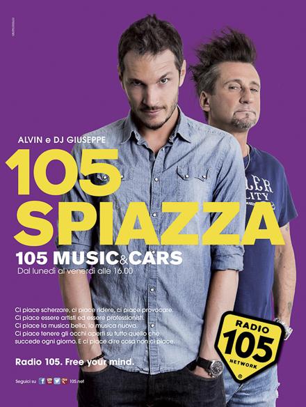 radio 105 adv – 105 music & cars – campagna pubblicitaria 2014